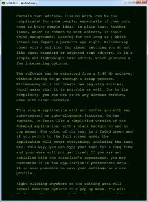 Enlarge Writemonkey Screenshot