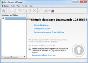Enlarge Free Password Manager Screenshot