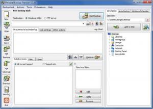 Enlarge Personal Backup Screenshot