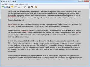 Enlarge FocusWriter Screenshot