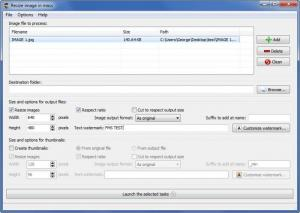 Enlarge Redimensionneur Screenshot