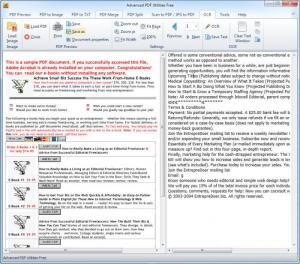 Enlarge Advanced PDF Utilities Free Screenshot