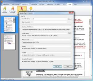 Enlarge Advanced PDF Utilities Free Screenshot
