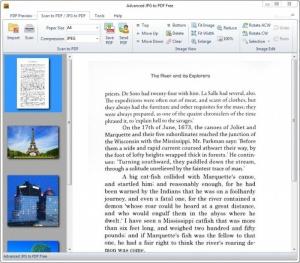 Enlarge Advanced JPG to PDF Free Screenshot