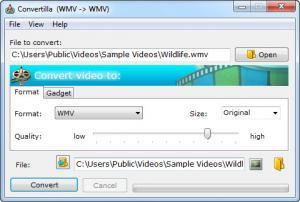 Enlarge Convertilla Screenshot