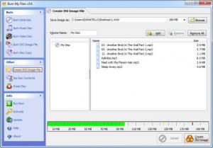 Enlarge Burn My Files Screenshot