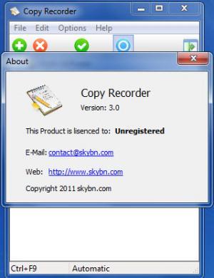 Enlarge Copy Recorder Screenshot