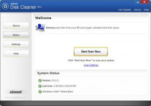 Enlarge Simnet Disk Cleaner Screenshot