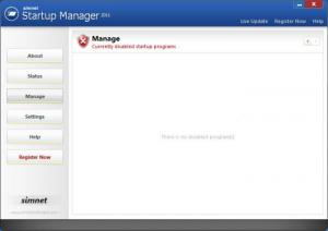 Enlarge Simnet Startup Manager Screenshot
