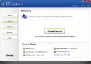 Enlarge Simnet UnInstaller Screenshot