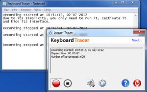 Enlarge Keyboard Tracer Screenshot