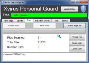 Enlarge Xvirus Personal Guard Screenshot