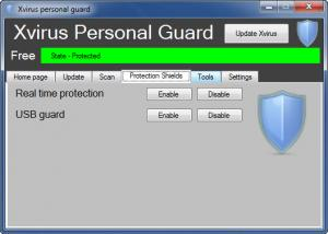Enlarge Xvirus Personal Guard Screenshot