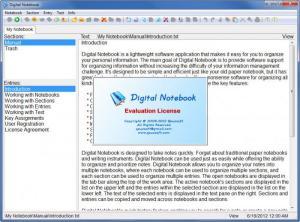 Enlarge Digital Notebook Screenshot