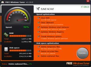 Enlarge Free Windows Tuner Screenshot