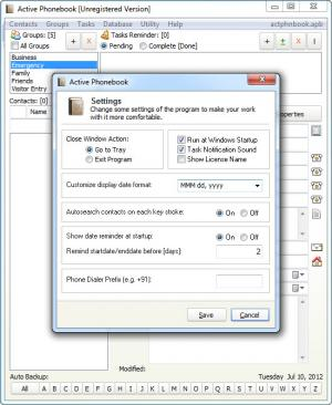 Enlarge Active Phonebook Screenshot
