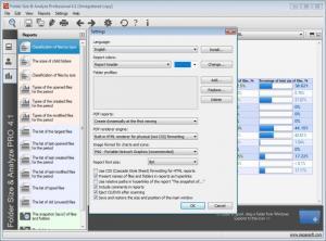Enlarge Folder Size & Analyze Professional Screenshot