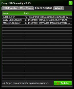 Enlarge Easy USB Security Screenshot