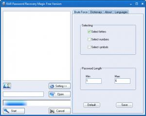 Enlarge RAR Password Recovery Magic Screenshot