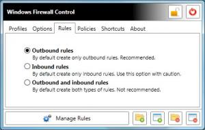 Enlarge Windows Firewall Control Screenshot