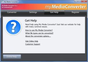 Enlarge myMediaConverter Screenshot