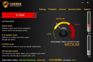 Enlarge Cerber Antivirus Screenshot