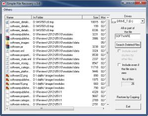 Enlarge Simple File Recovery Screenshot