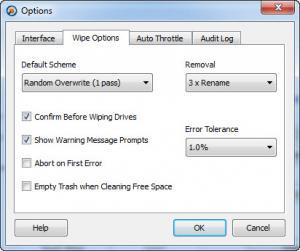 Enlarge Hardwipe Screenshot