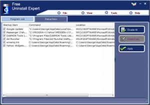 Enlarge Uninstall Expert Screenshot
