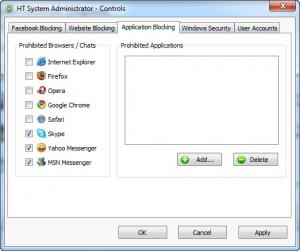 Enlarge HT System Administrator Screenshot
