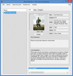 Enlarge MovieLibrary Screenshot
