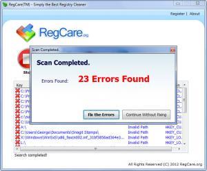 Enlarge RegCare Screenshot