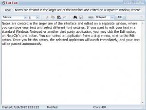 Enlarge NoteClip Screenshot