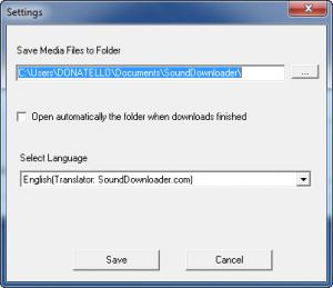 Enlarge SoundDownloader Screenshot