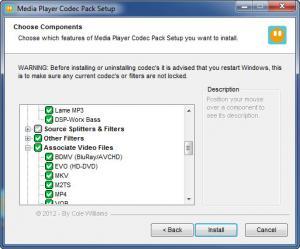 Enlarge Media Player Codec Pack Screenshot