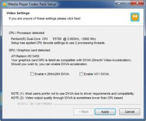Enlarge Media Player Codec Pack Screenshot