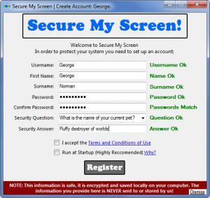 Enlarge Secure My Screen Screenshot