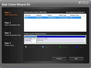 Enlarge Disk Clone Wizard Kit Screenshot