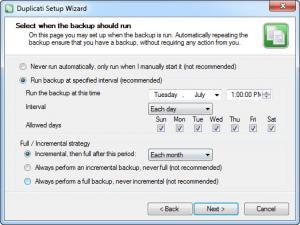 Enlarge Duplicati Screenshot