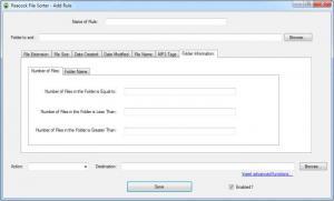 Enlarge Peacock File Sorter Screenshot