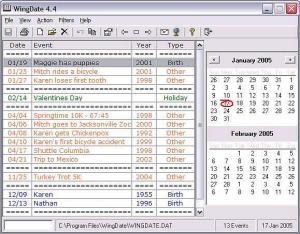 Enlarge WingDate Screenshot