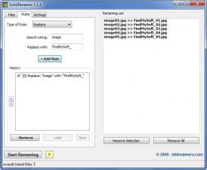 Enlarge Solid Renamer Screenshot
