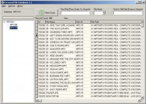 Enlarge Personal File Database Screenshot