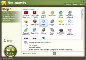 Enlarge Max Uninstaller Screenshot