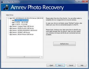 Enlarge Amrev Photo Recovery Screenshot
