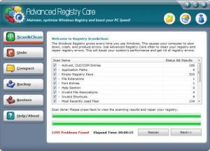 Enlarge Advanced Registry Care Screenshot