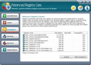 Enlarge Advanced Registry Care Screenshot