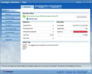 Enlarge Auslogics Antivirus Screenshot