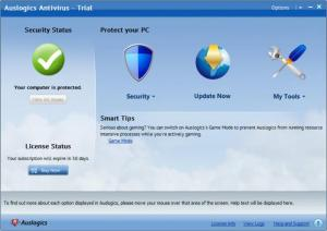 Enlarge Auslogics Antivirus Screenshot