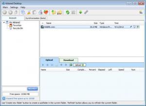 Enlarge 4shared Desktop Screenshot